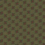 Circa Prairie - Green Reproduction Print with Red