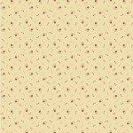 Circa Prairie - Small Red Flower Cream Reproduction Print