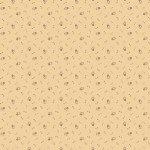 Circa Prairie - Small Green Flower Tan Reproduction Print