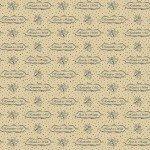 Circa Prairie - Cream Reproduction Print with Blue