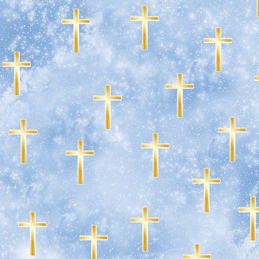 Heaven Sent Luminated Cross Blue