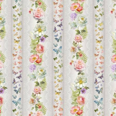 Butterfly Haven - Multi Butterfly Repeating Stripe