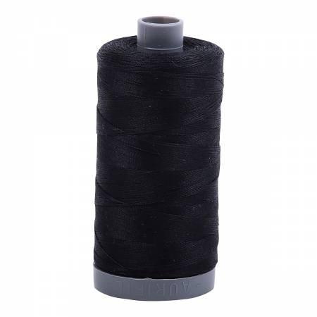 Aurifil 28/2 Cotton Solid 820yds - #2692 Black