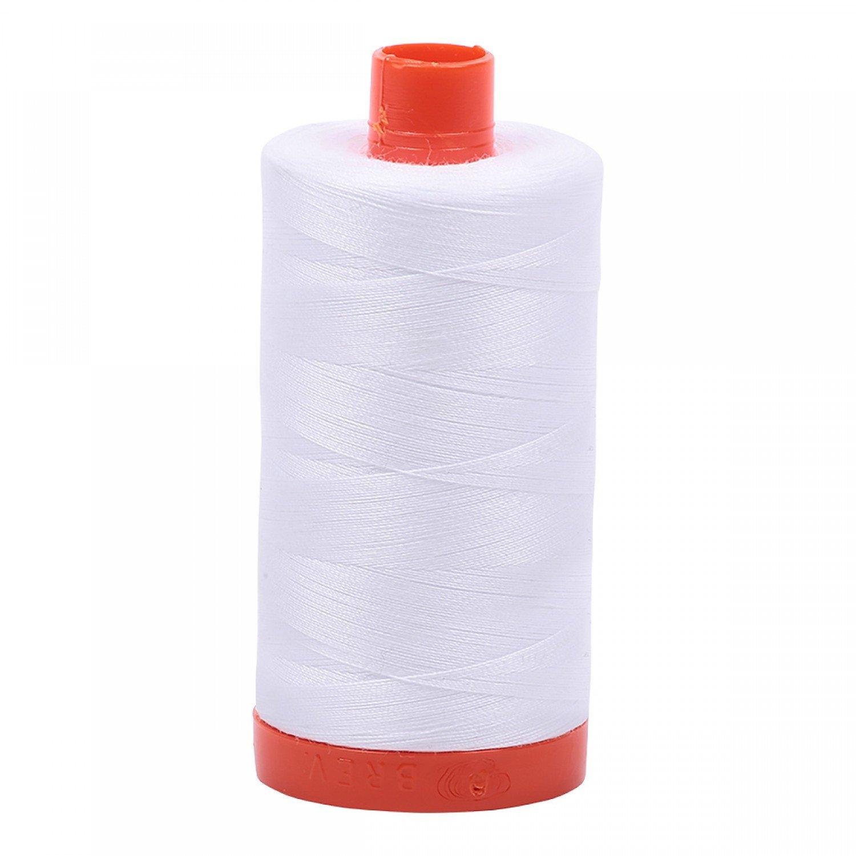 Aurifil 50/2 Cotton Solid 1422yds - #2024 White