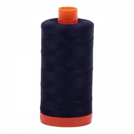Aurifil 50/2 Cotton Solid 1422yds - #2785 Very Dark Navy