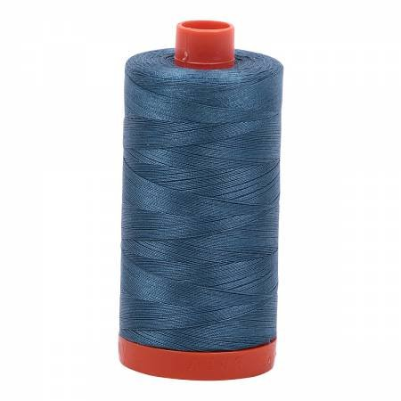 Aurifil 50/2 Cotton Solid 1422yds - #4644 Smoke Blue