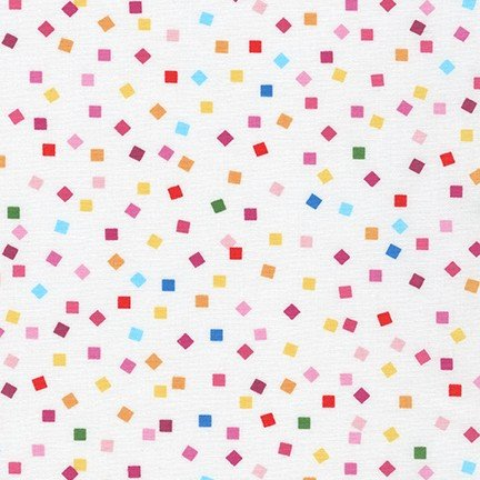 Girl Friends - Bright Squares on White Background