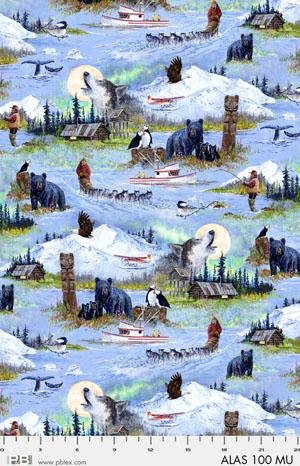 Alaskan Scene - Map - Jon Van Zyle