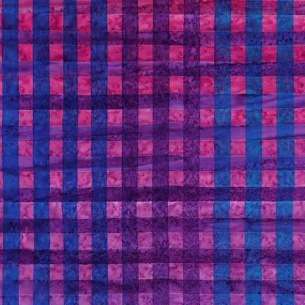 Hand Painted Gingham - Grape