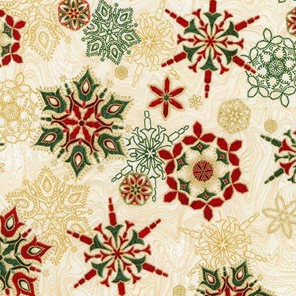 Holiday Flourish 11 - Red/Green Snowflakes