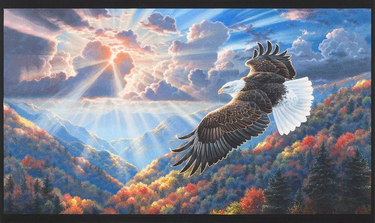 Patriots Digital Panel - Bald Eagle
