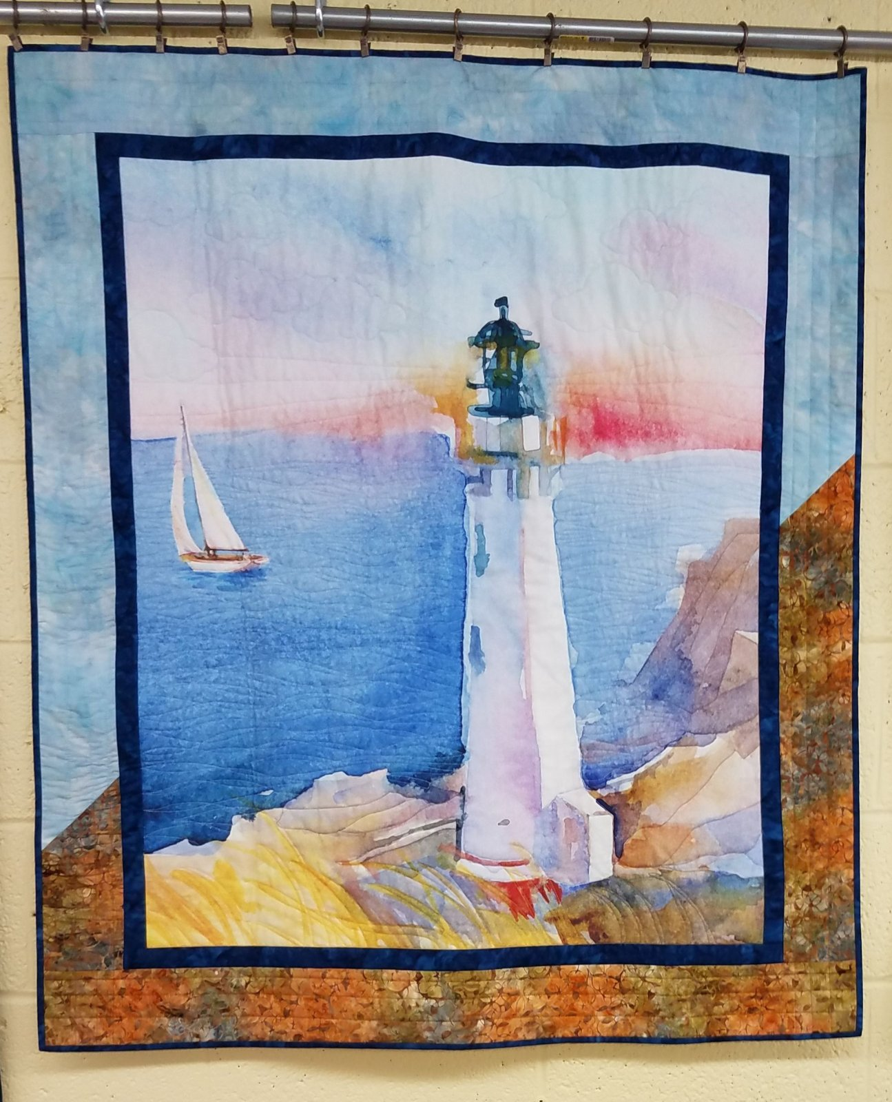 At The Shore Quilt - 39 1/2 x 45 1/2
