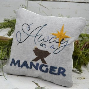 Away in a Manger - 10 x 10 Pillow