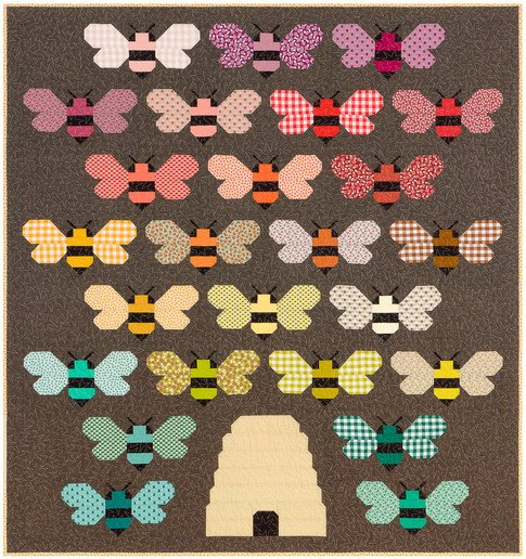 Beehive Quilt Top Kit Kit 59 x 63