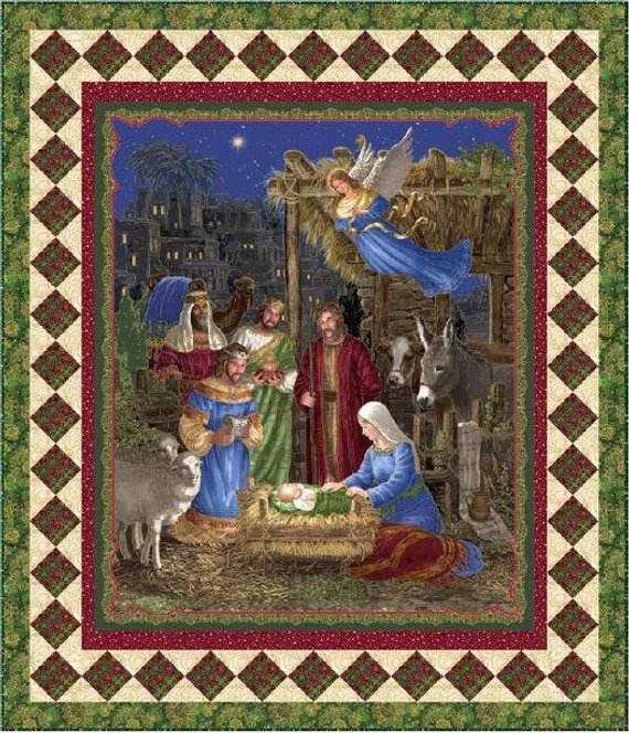 In Bethlehem Quilt Top Kit - 48 x 56