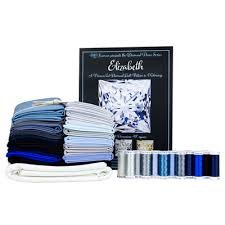 Elizabeth Princess Cut Diamond Fat Quarter Bundle - Blue