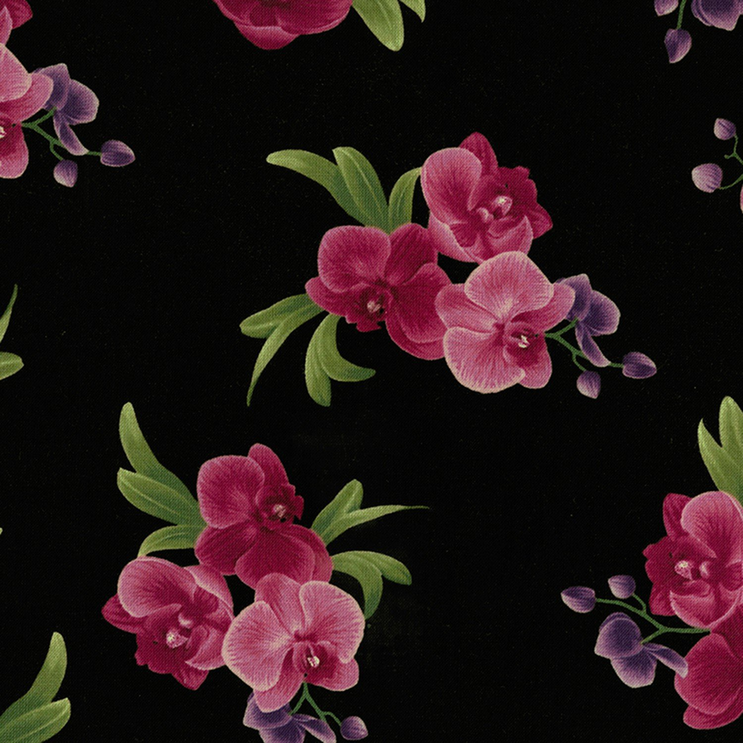 Wild Orchid - Black Orchid - Lrg Floral