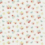 Bluebirds On Roses - Floral Cream