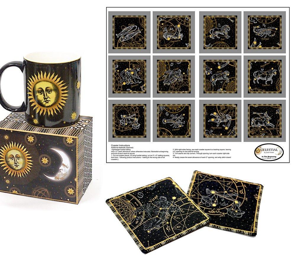 Celestial Coffee Mug & Fabric Coasters