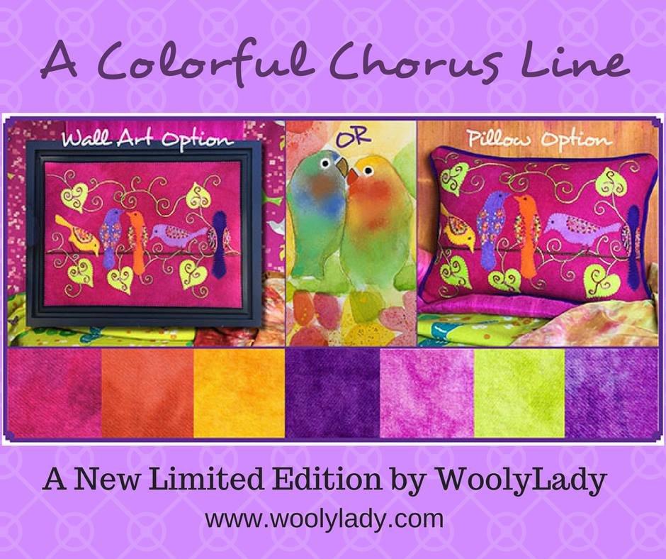 A Colorful Chorus Line Wall Art Kit