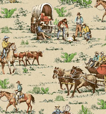 Riding Westward Cowboys & Wagons