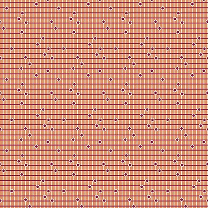 Dotted Grid Wild Rose