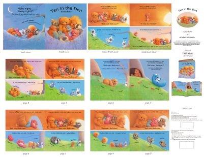 Ten in the Den - Fabric Book