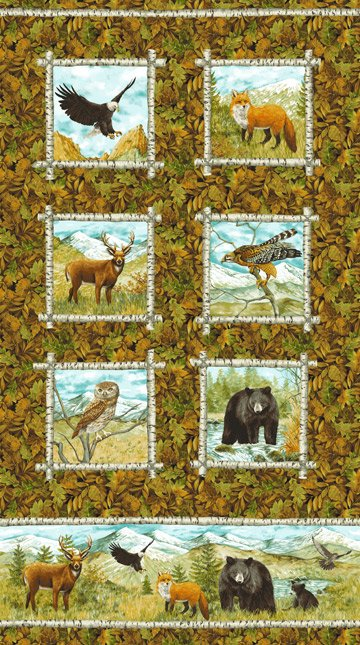 Mountain Springs Flannel - Framed Animal Panel