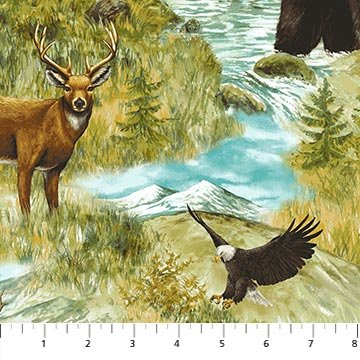 Mountain Springs Flannel - Wildlife Scene