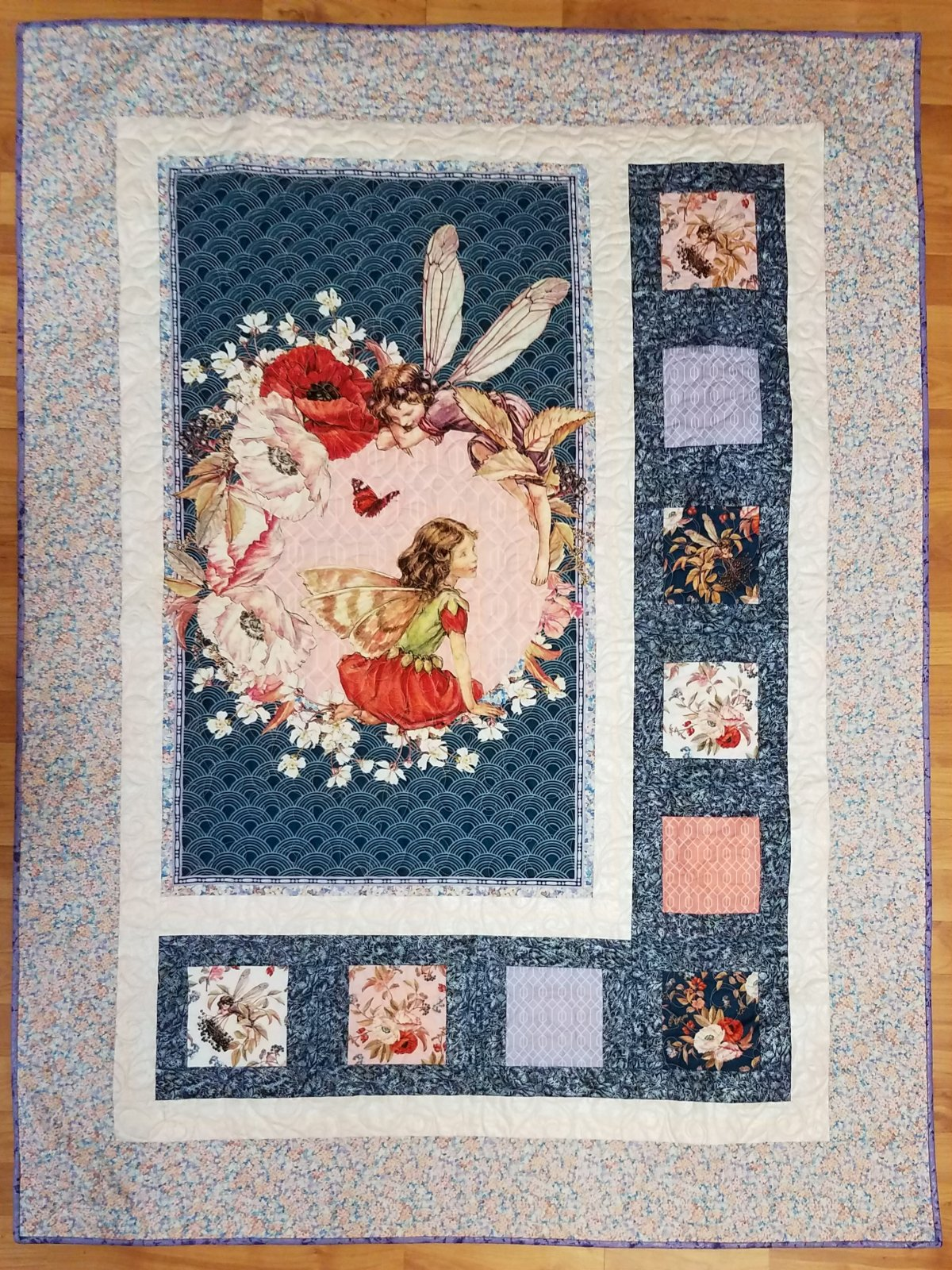 Flower Fairies Panel Quilt Top Kit