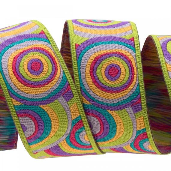 Renaissance Ribbons Lime Target - 7/8 in.