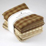 Dunroven House Homespun Fat Quarter Bundle - Brown/Natural