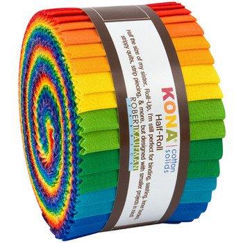 Kona Cotton Bright Rainbow Half Roll