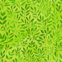Floral Menagerie - Green Leaves
