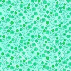 Floral Menagerie - Aqua Posies