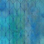Garden of Dreams - Ogee Leaf - Blue/Teal