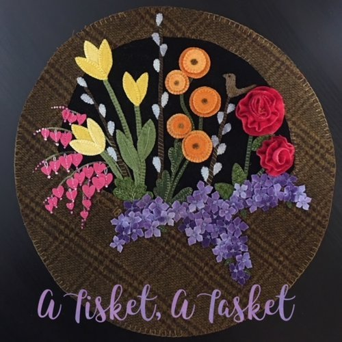A Tisket, A Tasket Wool Table Mat Pattern with Beads