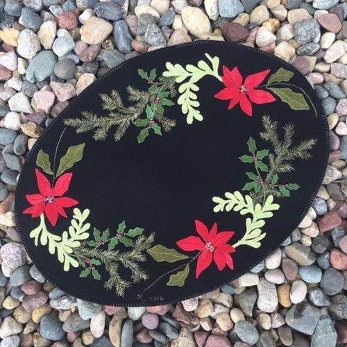 Winter Solstice Wool Table Mat Kit