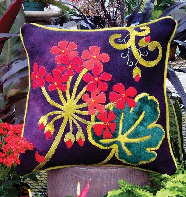 Jewel-Tone Geranium Pillow Kit