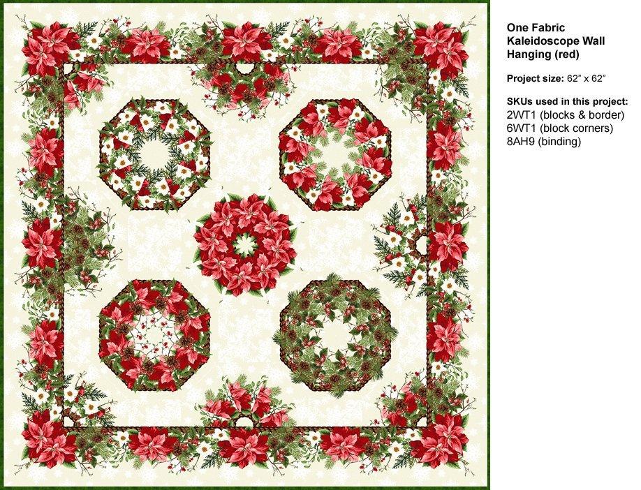 Winter Twist - One Fabric Kaleidoscope