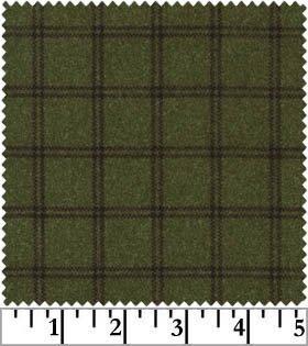 Woolies Flannel - Moss Green