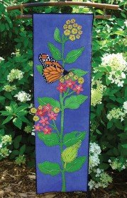 Wooly Lady Monarch & Milkweed Wall Hanging Pattern