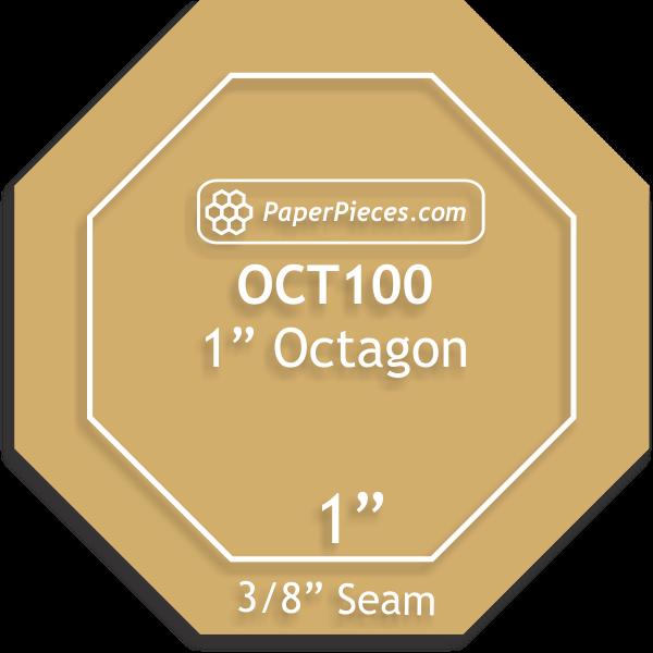 Acrylic Fabric Cutting Template 1 Octagon