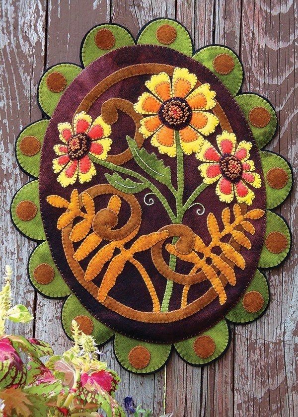Painted Daisies Penny Rug Kit