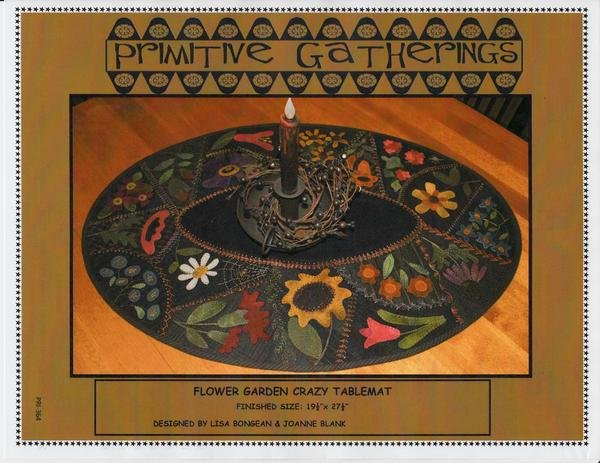 Flower Garden Crazy Table Mat Kit