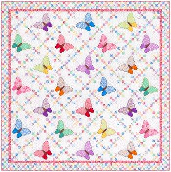 Aunt Ella's Butterflies Quilt Top Kit -72 x 72