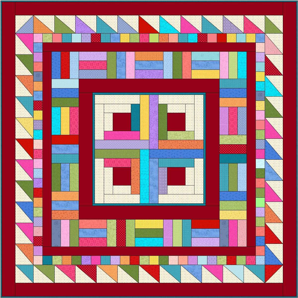 Fab Four Shop Hop Quilt Top Kit