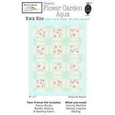 Flower Garden Aqua - 44 x 57