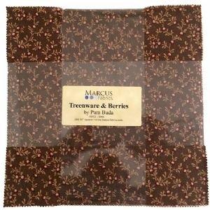Treenware & Berries 10 squares