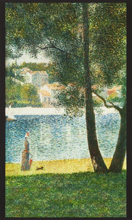 Seurat - Impressionist Panel Lady with Parasol